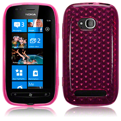Back Cover Lumia 710 Hot Pink