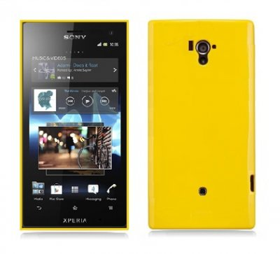 Back Cover Xperia Acro S Candy Yellow