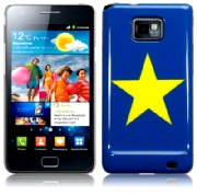 Back Cover i9100 Galaxy S2 Yellow Star