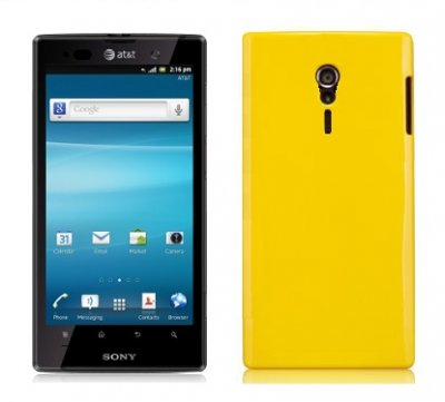 Back Cover Xperia ion Candy Yellow