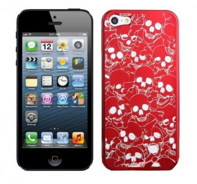 Hard Case iPhone 5/5S/SE Skull Head Red