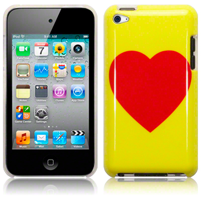 Back Cover ipod touch 4 Yellow/Red Heart