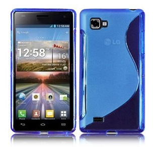 Back Cover LG Optimus 4X HD Style Blue