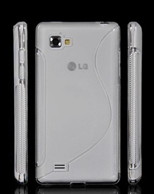 Back Cover LG Optimus 4X HD Style White