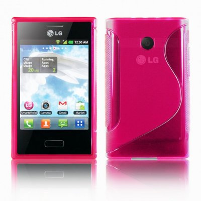 Back Cover Optimus L3 Style Pink