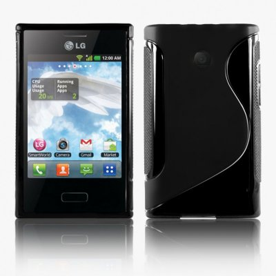 Back Cover Optimus L3 Style Black