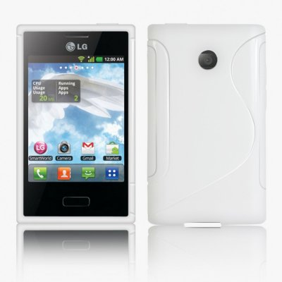 Back Cover Optimus L3 Style White