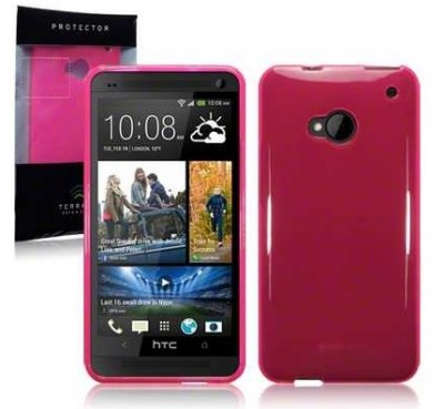Bakskal HTC One 4G Hot Pink
