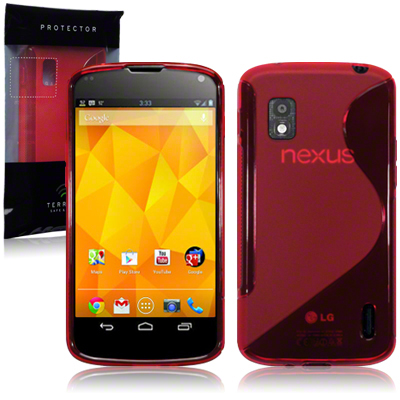 Back Cover Google Nexus 4 Style Red
