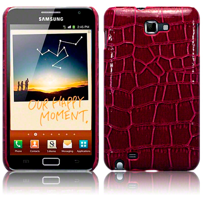 Back Cover Galaxy Note Croc Skin Red