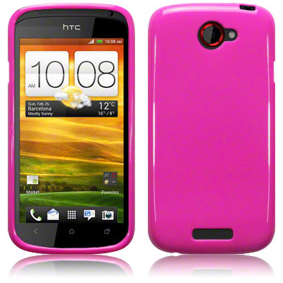 Bakskal HTC One S Solid Pink