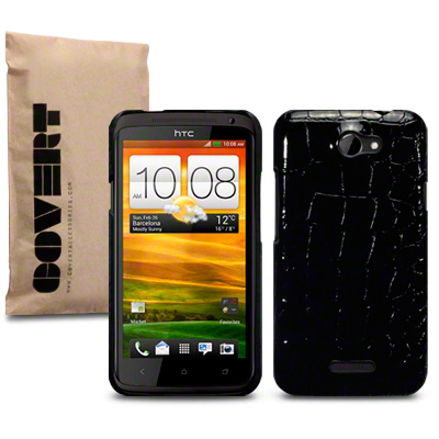 Bakskal HTC One X/One X Plus Croc Skin Black