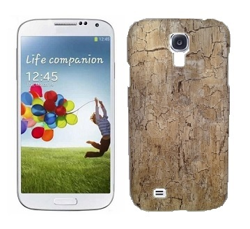 Back Cover i9500 Galaxy S4 Old Wood Light Brown