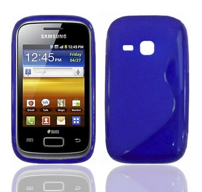 Back Cover S6310 Galaxy Young Style Blue