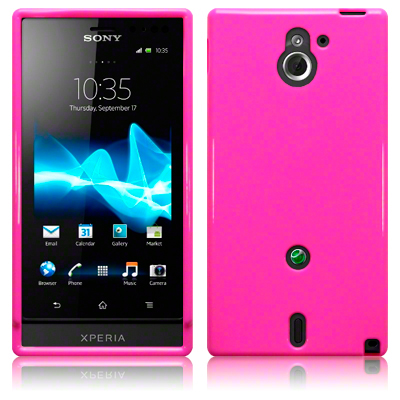 Back Cover Xperia Sola Solid Pink