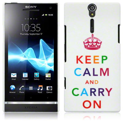 Back Cover Xperia S Multicolour Keep Calm