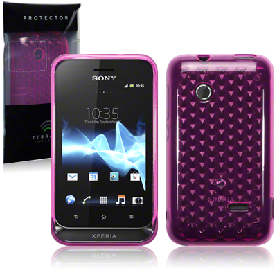Back Cover Xperia Tipo Hot Pink