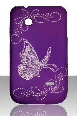 Hard Case Tipo Purple Butterfly