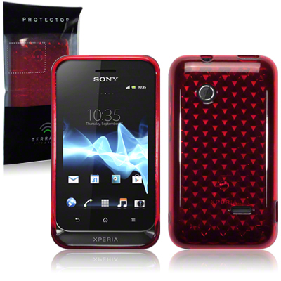 Back Cover Xperia Tipo Red