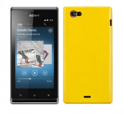 Back Cover Xperia J Candy Yellow