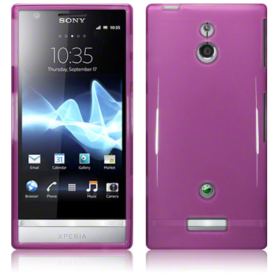 Back Cover Xperia P Plum