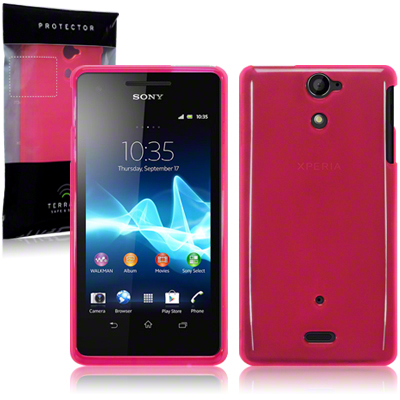 Back Cover Xperia V Hot Pink