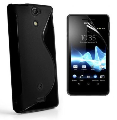 Back Cover Xperia V Style Black