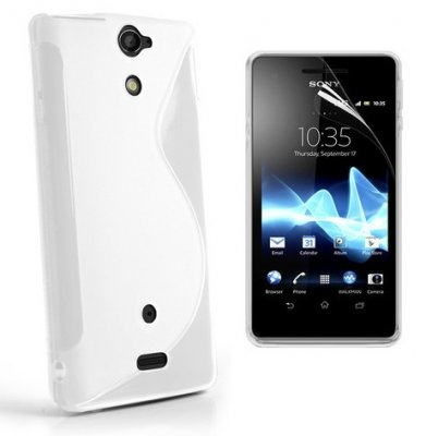 Back Cover Xperia V Style White
