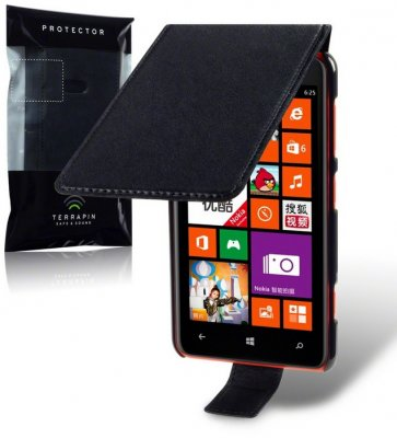 Flipväska Lumia 625 Black Slim