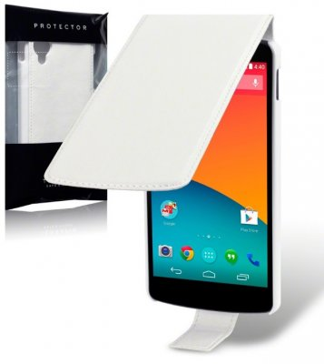 Flipväska Nexus 5 White Slim