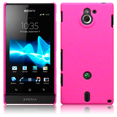 Hard Case Xperia Sola Solid Pink