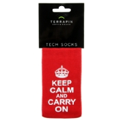 Mobilsocka Keep Calm Carry On Red