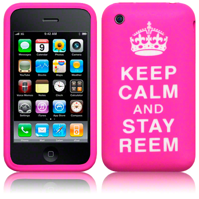 Silikonskydd iphone 3G/3Gs Keep Calm Pink