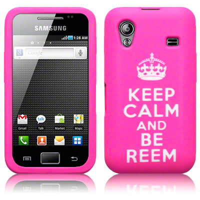 Silikonskydd S5830 Galaxy Ace Keep Calm Pink