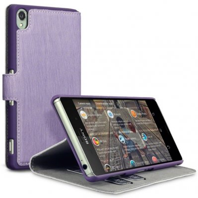 Mobilväska Xperia Z3 Leather Purple Slim