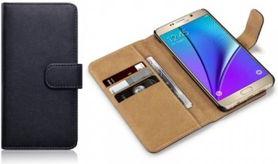 Mobilväska Galaxy Note 5 Black/Tan