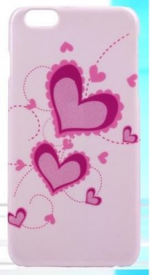 Mobilskal iPhone 6/6S Two Pink Hearts