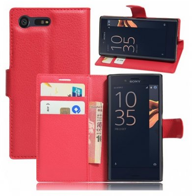 Mobilväska Sony Xperia X Compact Red w/Stand